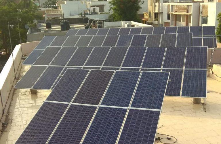 50 kWp Shri Badrinarayan Mandir, Adajan, Surat July 2018